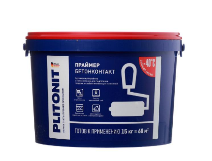 Купить Грунтовка для бетона Plitonit Бетонконтакт, 15 кг — Фото №1