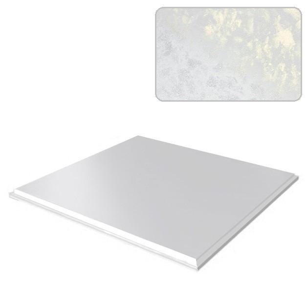 Потолок кассетный Cesal 511 (белый мрамор), 300х300 мм