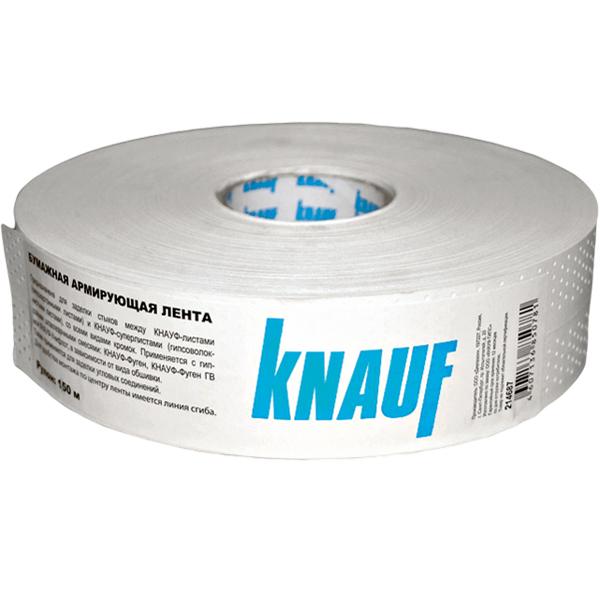 Купить Лента армирующая бумажная перфорированная Knauf, рулон 150 м — Фото №1