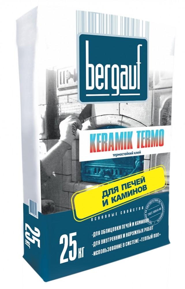 Клей для плитки термостойкий Bergauf Keramik Termo, 25 кг