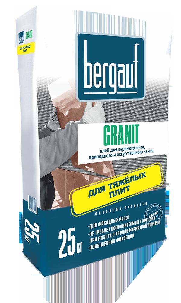 Клей для плитки Bergauf Granit, 25 кг