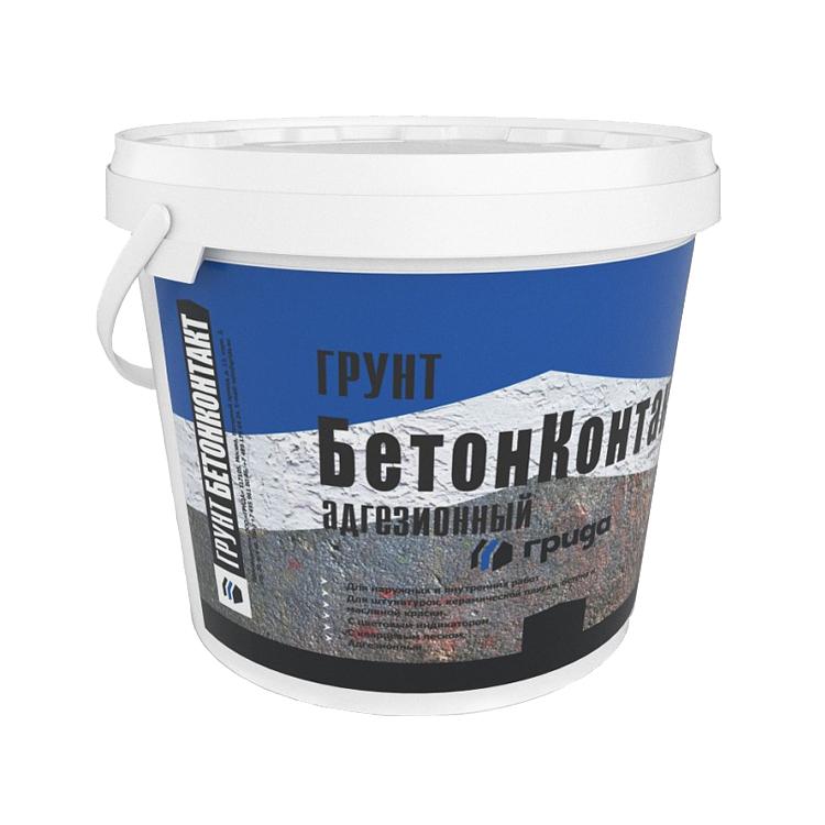 Купить Грунтовка для бетона акриловая Грида Бетоноконтакт Морозостойкая, 10 кг — Фото №1