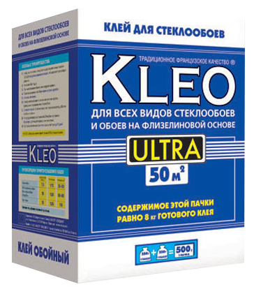 Обойный клей Kleo Ultra для стеклообоев, 500 г