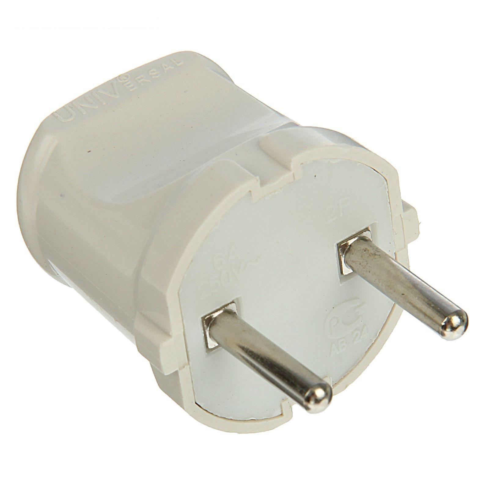 Купить Вилка электрическая без заземления, пластиковая — Фото №1