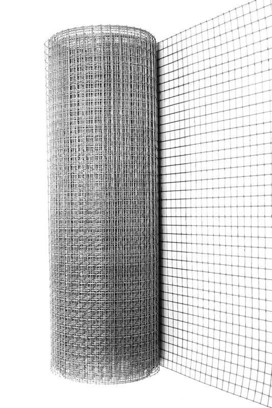 Купить Сетка сварная оцинкованная 6х6х0.6 мм, рулон 1х15 м — Фото №1