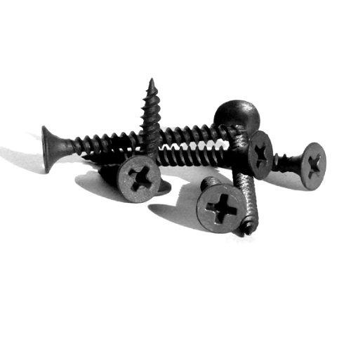 Купить Саморезы для гипсокартона универсальные черные, размер 3.5х25 мм — Фото №1