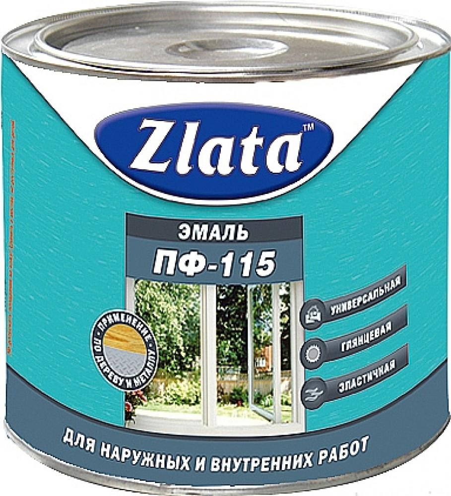 Купить Эмаль алкидная универсальная Zlata ПФ-115 (белая), 1.9 кг — Фото №1