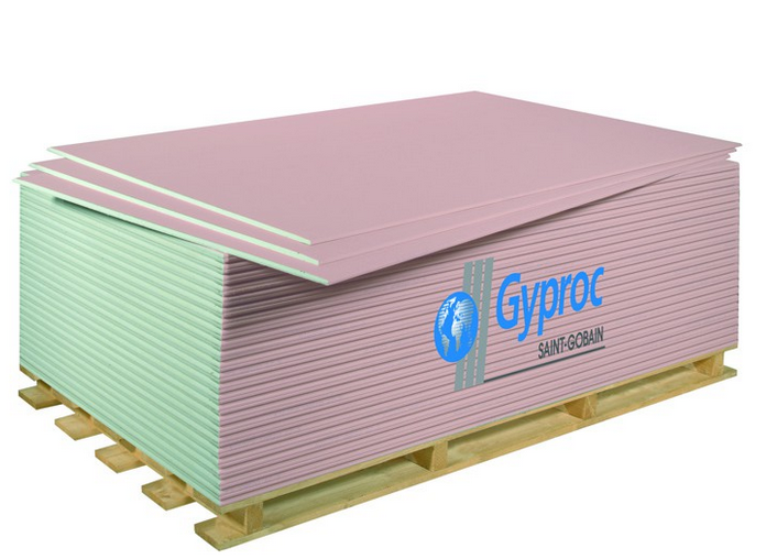 Купить Гипсокартон огнестойкий ГКЛО Gyproc 2500х1200х12.5 мм — Фото №1