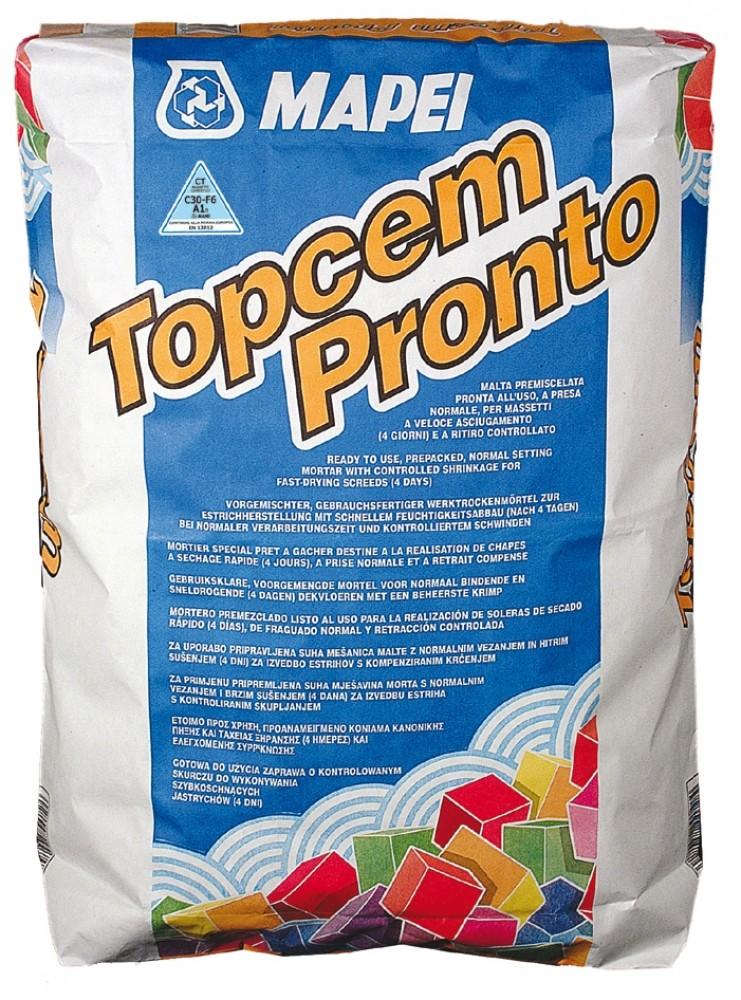 Купить Стяжка пола быстротвердеющая Mapei Topcem Pronto, 25 кг — Фото №1