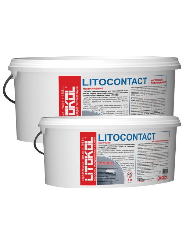Купить Грунтовка для бетона Litokol Litocontact, 5 кг — Фото №1