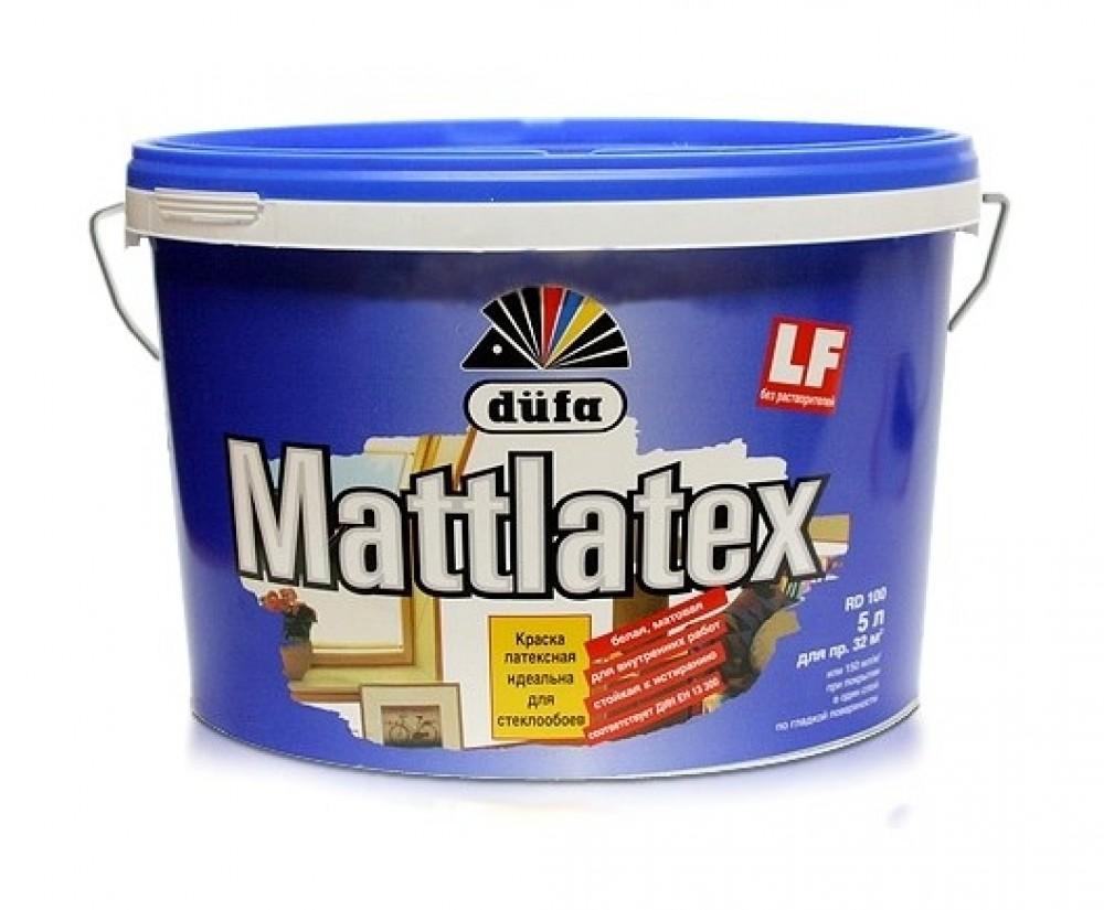 Краска интерьерная латексная Dufa Mattlatex (белая), 5 л