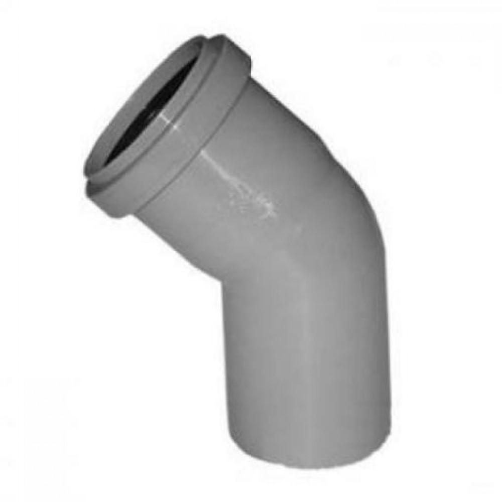 Купить Отвод канализационный, диаметр 40 мм (угол 45°)