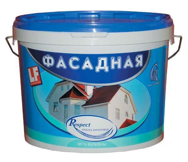 Купить Краска фасадная акриловая Respect (белая), 40 кг — Фото №1