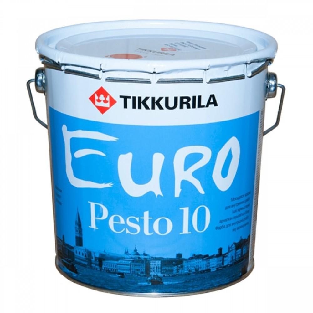 Купить Краска интерьерная латексная Tikkurila Euro Pesto 10 (белая), 9 л — Фото №1