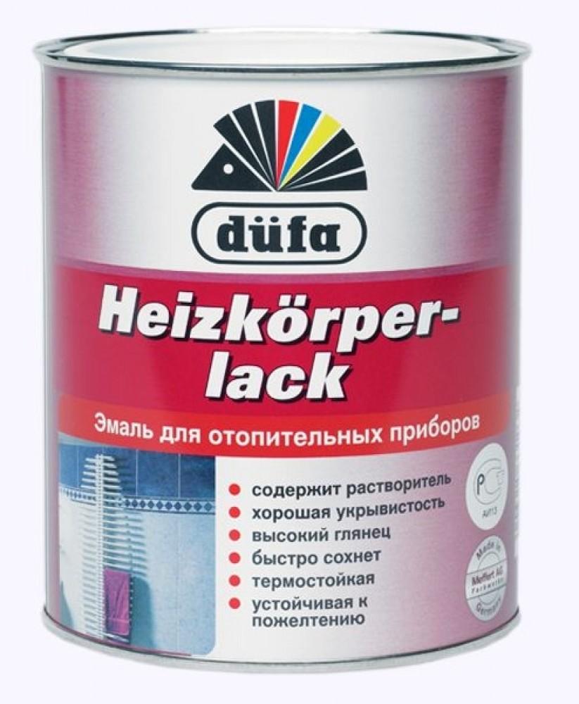 Купить Эмаль алкидная термостойкая Dufa Heizkorperlack (белая), 0.75 л — Фото №1