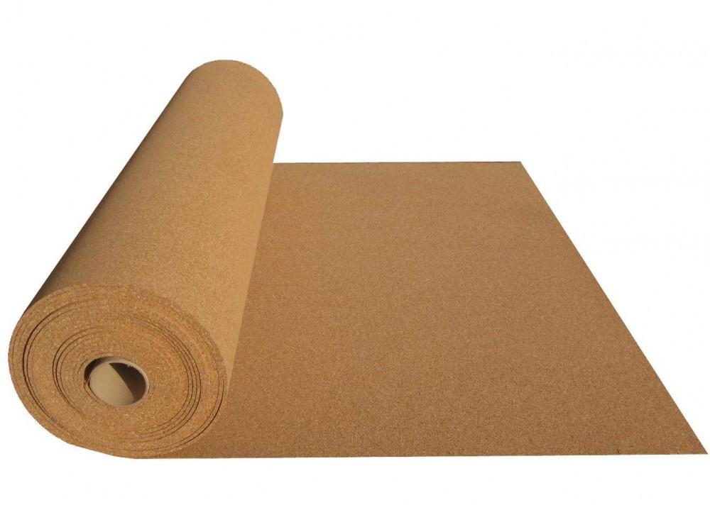 Купить Подложка пробковая 2 мм, рулон 10 м² — Фото №1