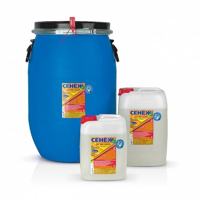 Купить Огнебиозащитная пропитка для древесины Сенеж Огнебио, 10 кг — Фото №1