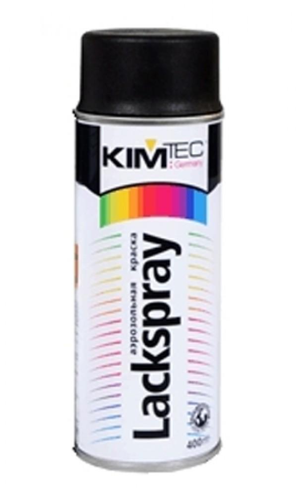 Купить Эмаль аэрозольная универсальная Kim Tec (черная), 400 мл — Фото №1