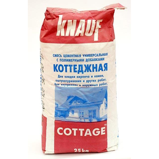 Купить Смесь монтажно-кладочная Knauf Коттеджная, 25 кг — Фото №1