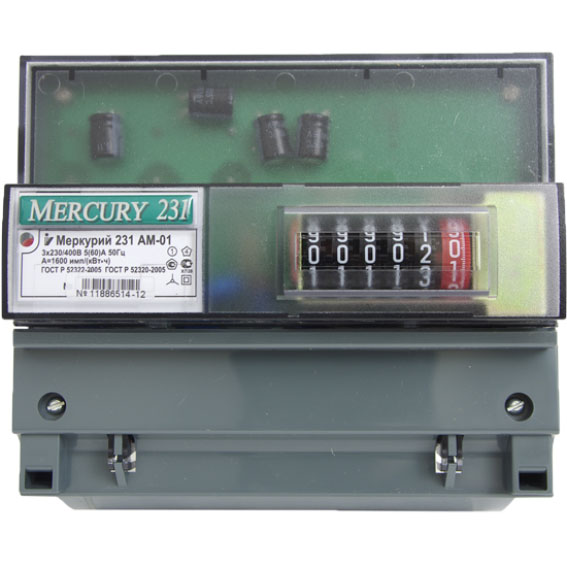 Счетчик электроэнергии трехфазный многотарифный Инкотекс Меркурий 231 AT-01 I