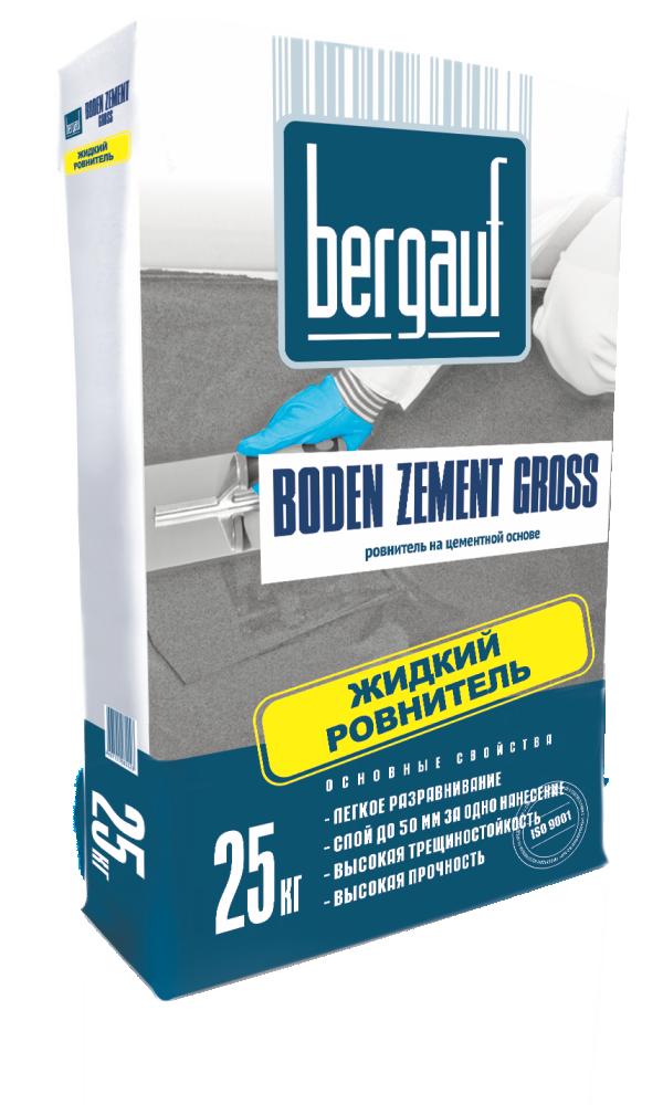 Ровнитель для пола Bergauf Boden Zement Gross, 25 кг