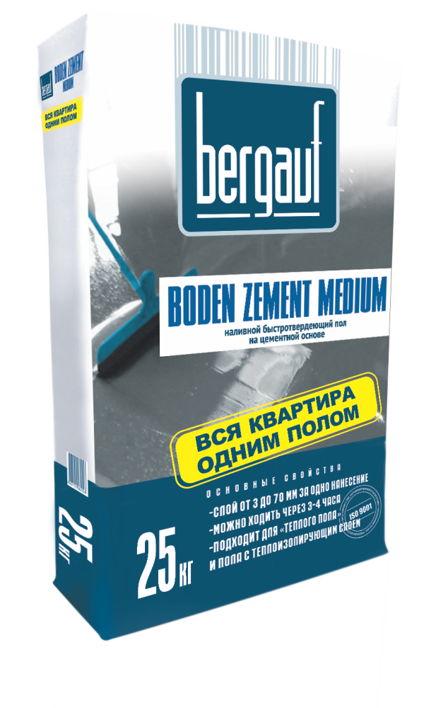 Купить Наливной пол Bergauf Boden Zement Medium, 25 кг — Фото №1