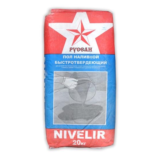 Купить Наливной пол Русеан Nivelir, 20 кг — Фото №1
