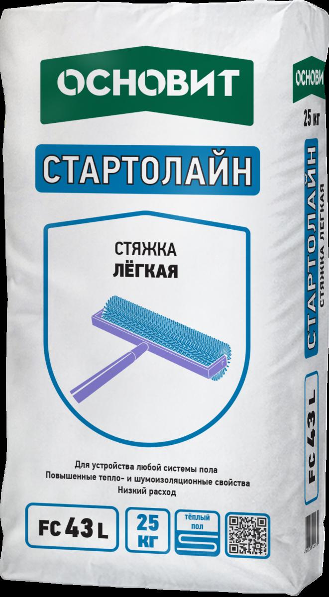 Купить Стяжка пола легкая Основит Стартолайн FC43 L, 25кг — Фото №1