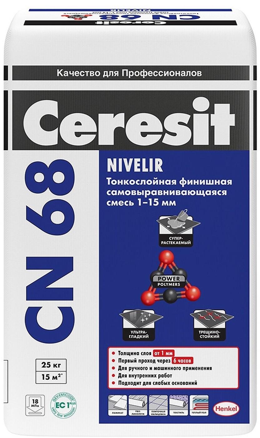 Купить Наливной пол Ceresit CN 68, 25 кг — Фото №1