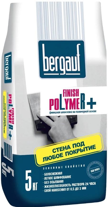 Купить Шпатлевка полимерная финишная Bergauf Finish Polymer+ (белая), 5 кг — Фото №1