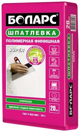 Купить Шпатлевка полимерная финишная Боларс Super (белая), 20 кг — Фото №1