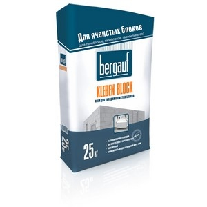 Клей для ячеистых блоков Бергауф КЛЕБЭН БЛОК морозостойкий, 25 кг