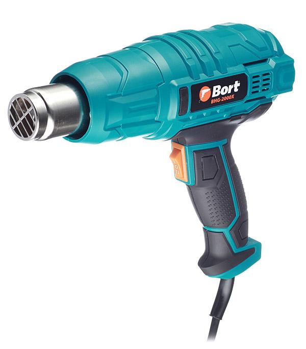 Фен строительный электрический Bort BHG-2000X, 2000 Вт