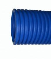 Гофра для трубы ПВХ (синяя), диаметр 16 мм