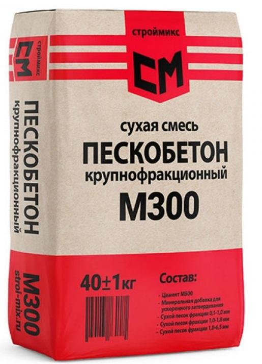 Купить Пескобетон СтройМикс М300, 40 кг — Фото №1