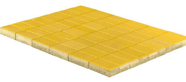Braer Прямоугольник, 200х100х40 мм, Плитка тротуарная желтая
