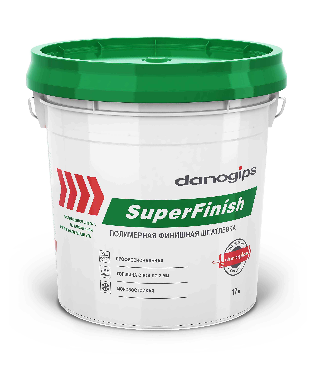 Купить Шпатлевка готовая финишная Danogips Sheetrock SuperFinish, 17 л — Фото №1