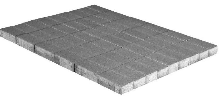 Braer Прямоугольник, 200х100х40 мм, Плитка тротуарная серая