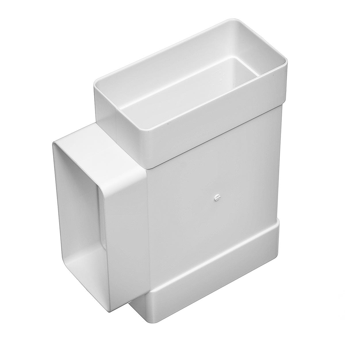 Купить Тройник для вентиляционных коробов пластиковый 55х110 мм, угол 90° — Фото №1