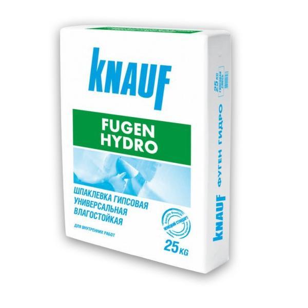 Купить Шпатлевка гипсовая влагостойкая Knauf Фуген Гидро (серая), 25 кг — Фото №1