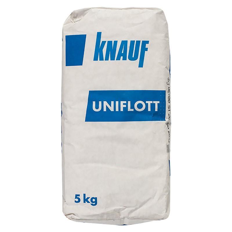 Купить Шпатлевка гипсовая высокопрочная Knauf Унифлот (бежевая), 5 кг — Фото №1