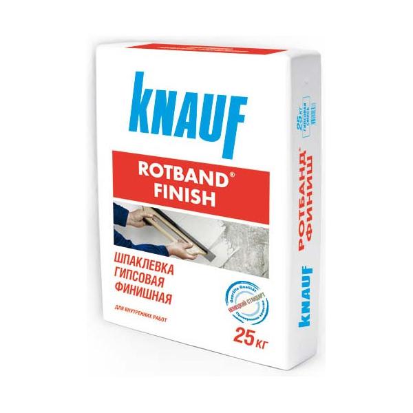 Купить Шпатлевка гипсовая Knauf Ротбанд-Финиш (белая), 25 кг — Фото №1