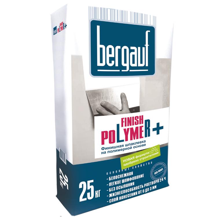 Купить Шпатлевка полимерная финишная Bergauf Finish Polymer+ (белая), 25 кг — Фото №1