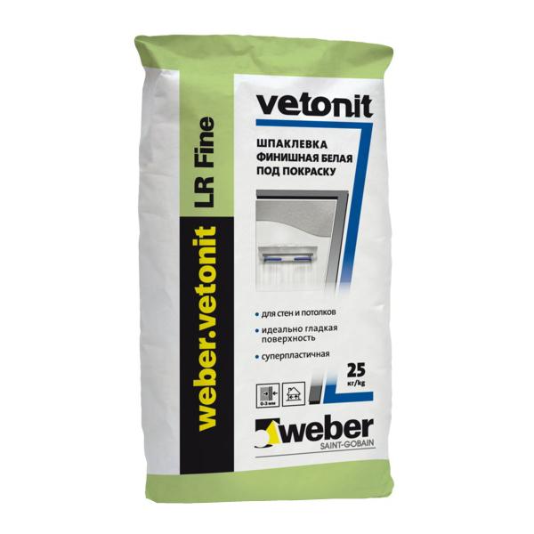 Купить Шпатлевка финишная Weber.Vetonit LR Fine, 25 кг — Фото №1