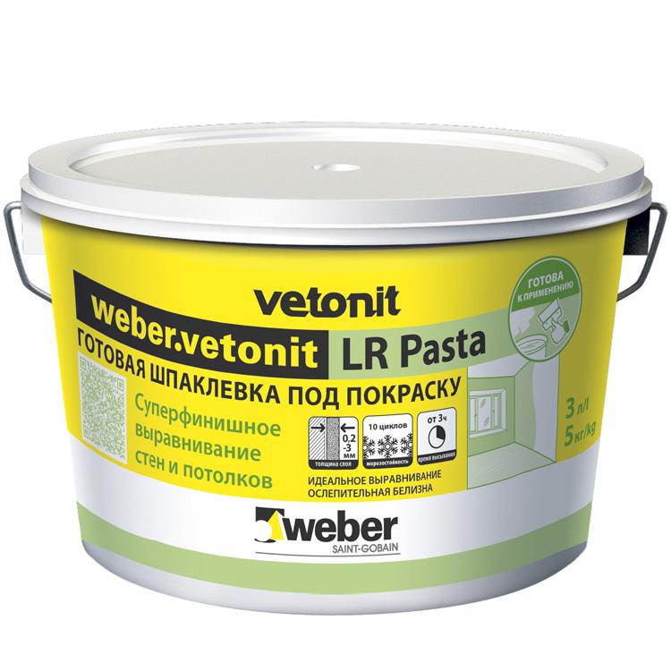 Купить Шпатлевка готовая финишная Weber.Vetonit LR Pasta, 5 кг — Фото №1