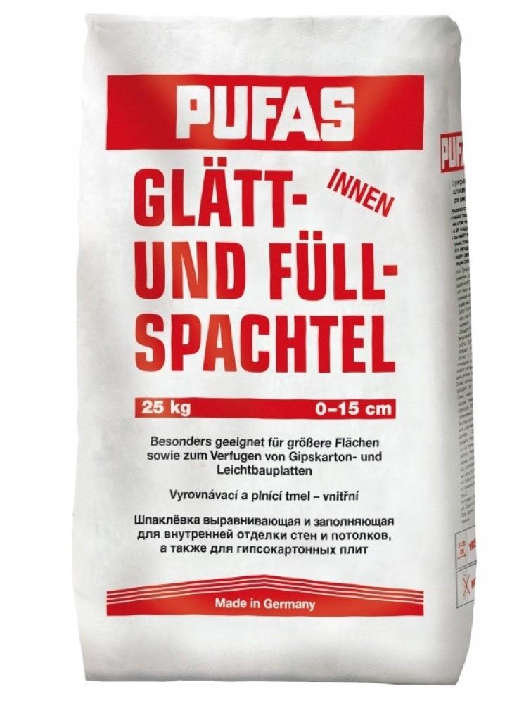 Купить Шпатлевка гипсовая Pufas Glatt Und Full Spachtel (белая), 25 кг — Фото №1