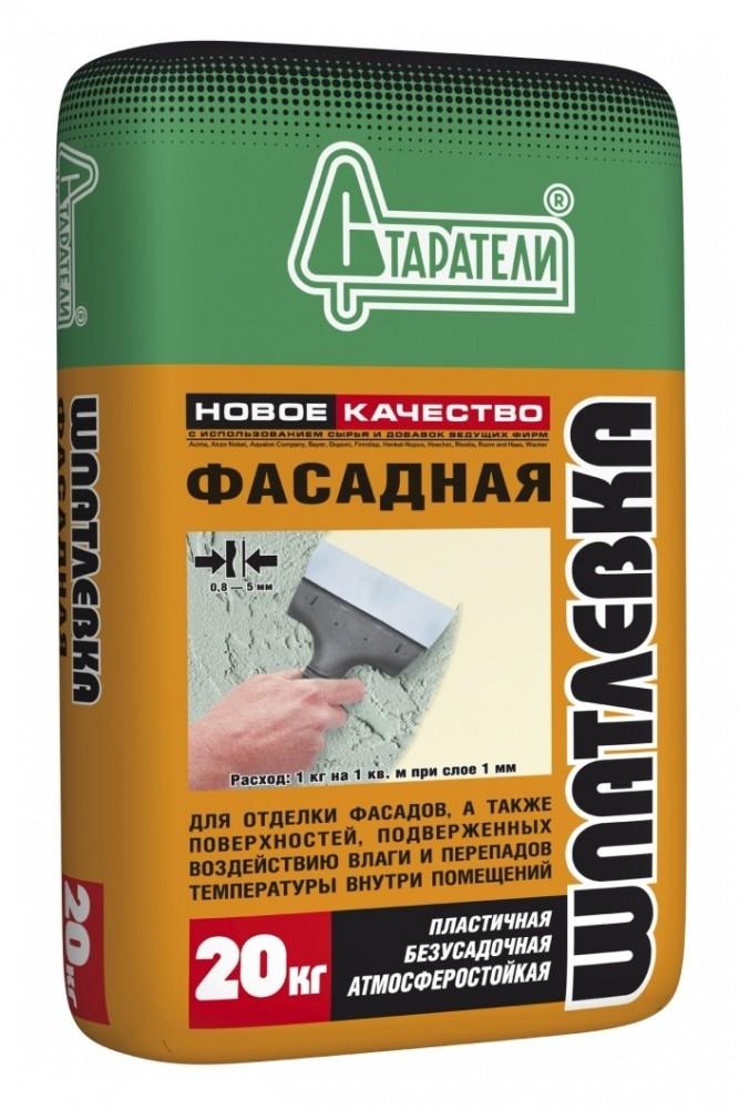 Купить Шпатлевка цементная Старатели Фасадная (светло-бежевая), 20 кг — Фото №1