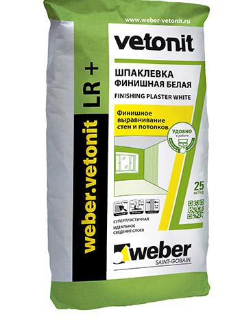 Купить Шпатлевка финишная Weber.Vetonit LR +, 25 кг — Фото №1
