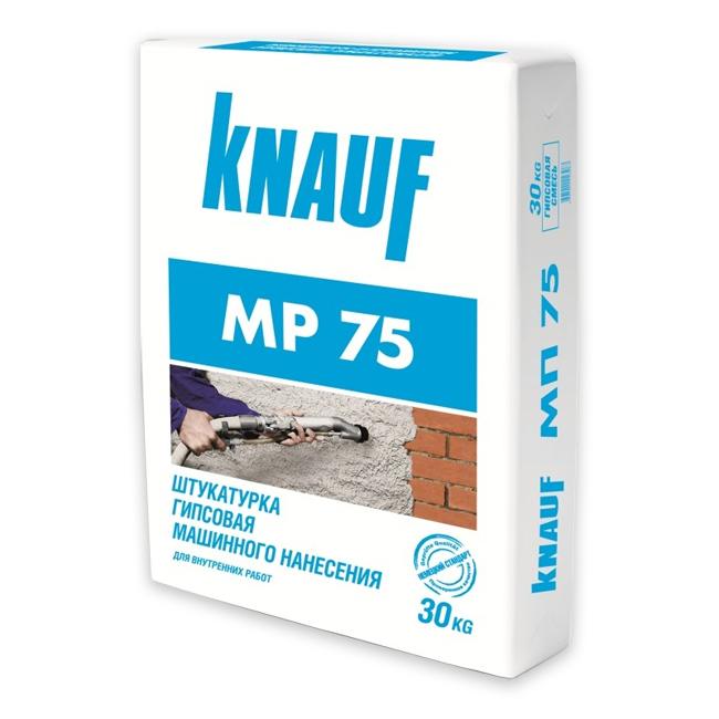 Купить Штукатурка гипсовая Кнауф МП-75 (белая), 30 кг — Фото №1