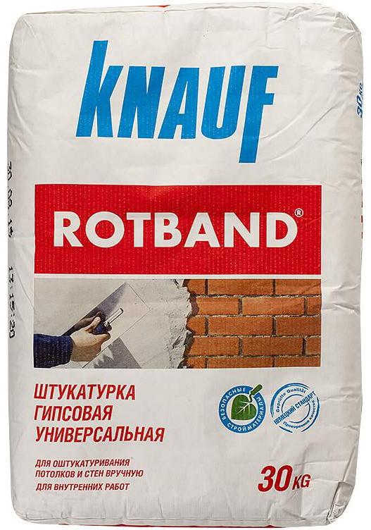 Купить Штукатурка гипсовая Knauf Ротбанд, 30 кг — Фото №1